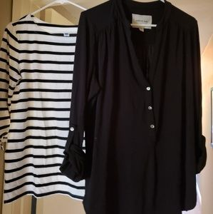 Two tops for one price. Size M black Amour Vert